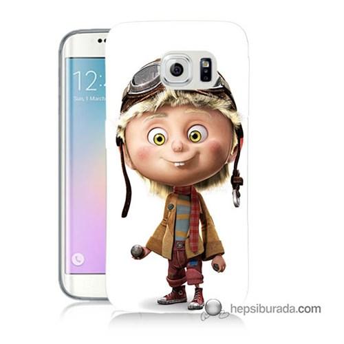 Teknomeg Samsung Galaxy S6 Edge Plus Kılıf Kapak Çizgi Karakter Baskılı Silikon