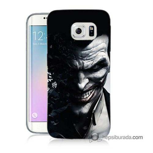 Teknomeg Samsung Galaxy S6 Edge Kılıf Kapak Joker Baskılı Silikon