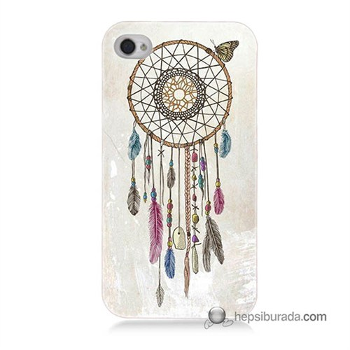 Teknomeg İphone 4 Kapak Kılıf Dream Catcher Baskılı Silikon