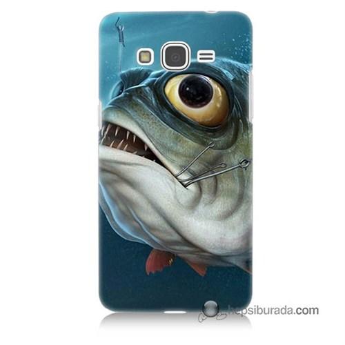 Teknomeg Samsung Galaxy Grand Prime Kapak Kılıf Balık Baskılı Silikon
