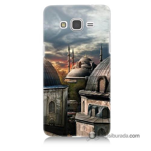 Teknomeg Samsung Galaxy Grand Prime Kapak Kılıf Cami Baskılı Silikon