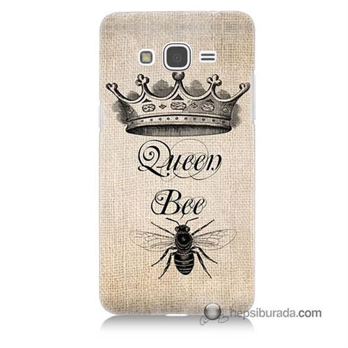 Teknomeg Samsung Galaxy Grand Prime Kılıf Kapak Queen Bee Baskılı Silikon