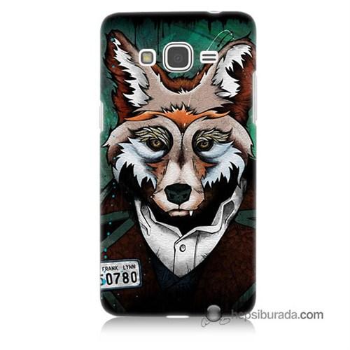 Teknomeg Samsung Galaxy Grand Prime Kılıf Kapak Bad Wolf Baskılı Silikon