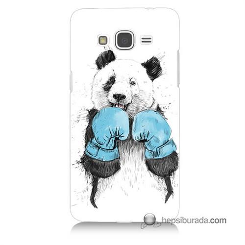 Teknomeg Samsung Galaxy Grand Prime Kılıf Kapak Boksör Panda Baskılı Silikon