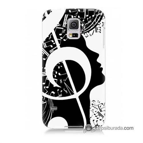 Teknomeg Samsung Galaxy S5 Kapak Kılıf Notalar Baskılı Silikon