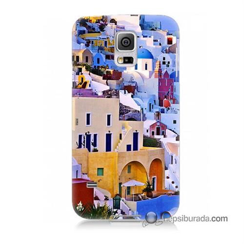 Teknomeg Samsung Galaxy S5 Kılıf Kapak İbiza Baskılı Silikon
