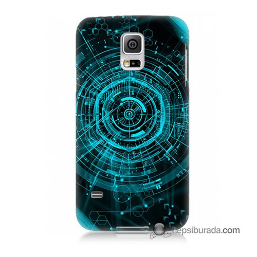 Teknomeg Samsung Galaxy S5 Kapak Kılıf Asit Baskılı Silikon