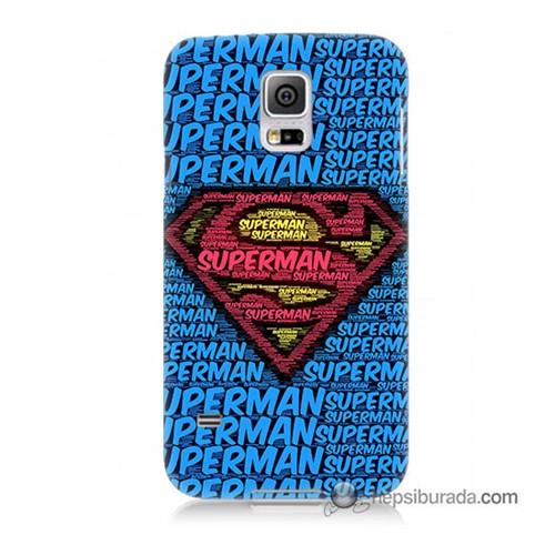 Teknomeg Samsung Galaxy S5 Kapak Kılıf Süpermen Baskılı Silikon
