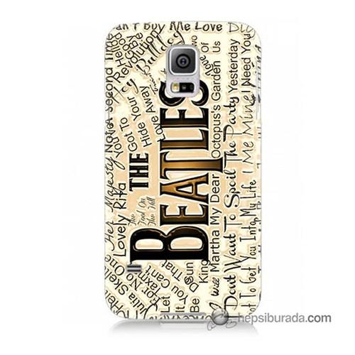 Teknomeg Samsung Galaxy S5 Kılıf Kapak The Beatles Baskılı Silikon