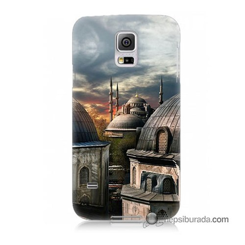 Teknomeg Samsung Galaxy S5 Kapak Kılıf Cami Baskılı Silikon