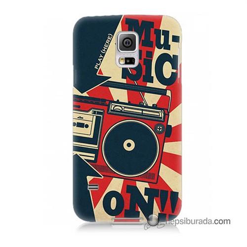 Teknomeg Samsung Galaxy S5 Kapak Kılıf Müzik Baskılı Silikon