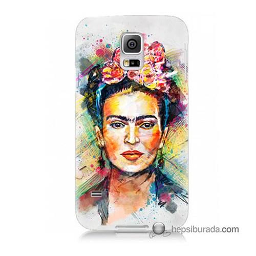 Teknomeg Samsung Galaxy S5 Kapak Kılıf Frida Baskılı Silikon