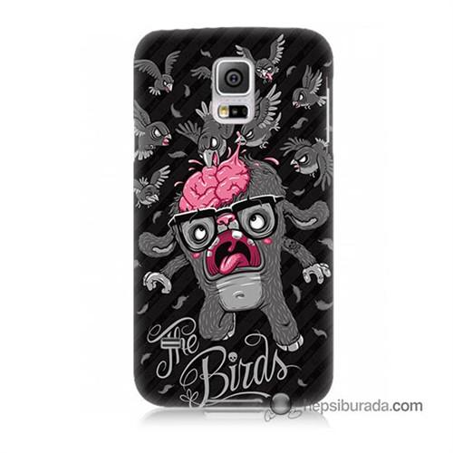 Teknomeg Samsung Galaxy S5 Kılıf Kapak The Birds Baskılı Silikon