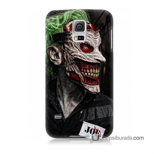 Teknomeg Samsung Galaxy S5 Kapak Kılıf Joker Joe Baskılı Silikon