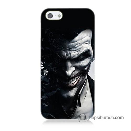Teknomeg İphone 5 Kılıf Kapak Joker Baskılı Silikon