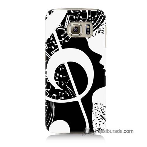 Teknomeg Samsung Galaxy S6 Kapak Kılıf Notalar Baskılı Silikon