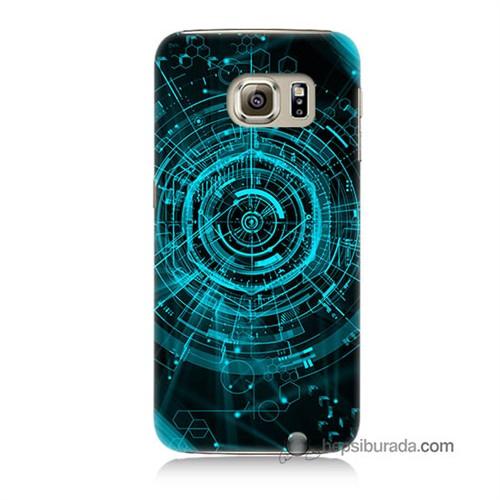 Teknomeg Samsung Galaxy S6 Kapak Kılıf Asit Baskılı Silikon