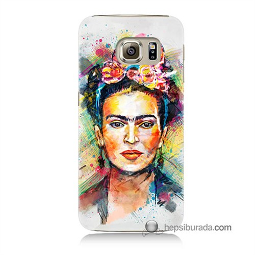 Teknomeg Samsung Galaxy S6 Kapak Kılıf Frida Baskılı Silikon