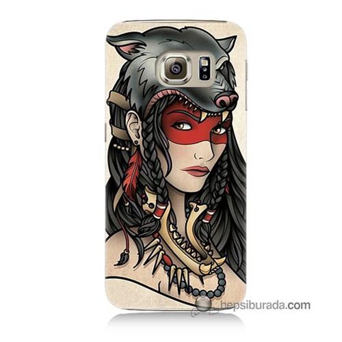 Teknomeg Samsung Galaxy S6 Kapak Kılıf Pocahontas Baskılı Silikon