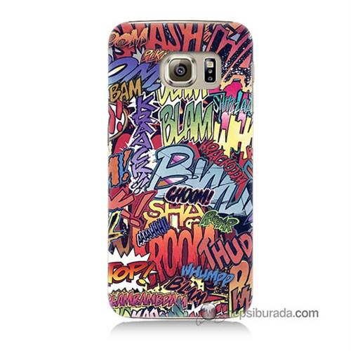 Teknomeg Samsung Galaxy S6 Kılıf Kapak Efekt Baskılı Silikon