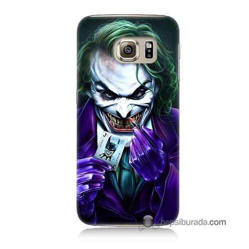 Teknomeg Samsung Galaxy S6 Kapak Kılıf Joker Baskılı Silikon