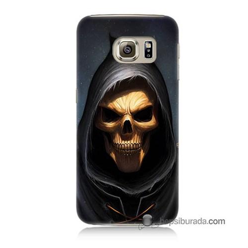 Teknomeg Samsung Galaxy S6 Kılıf Kapak Ölüm Meleği Baskılı Silikon