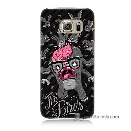 Teknomeg Samsung Galaxy S6 Kılıf Kapak The Birds Baskılı Silikon