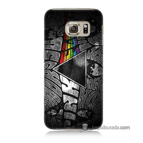 Teknomeg Samsung Galaxy S6 Kapak Kılıf Pink Floyd Baskılı Silikon
