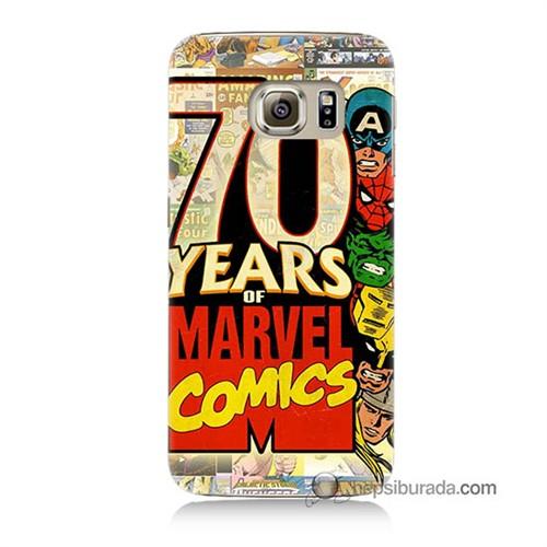 Teknomeg Samsung Galaxy S6 Kılıf Kapak Marvel Karakterleri Baskılı Silikon