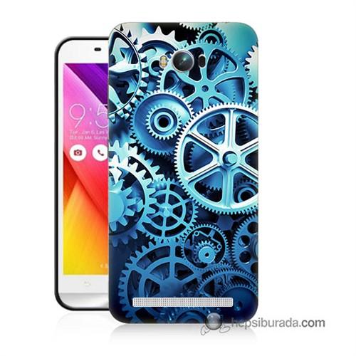 Teknomeg Asus Zenfone Max Kapak Kılıf Çarklar Baskılı Silikon