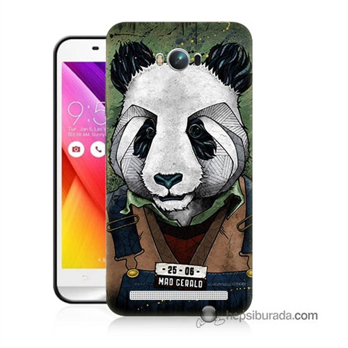 Teknomeg Asus Zenfone Max Kapak Kılıf İşçi Panda Baskılı Silikon