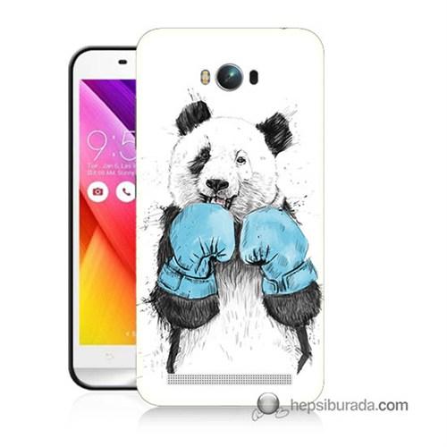 Teknomeg Asus Zenfone Max Kılıf Kapak Boksör Panda Baskılı Silikon