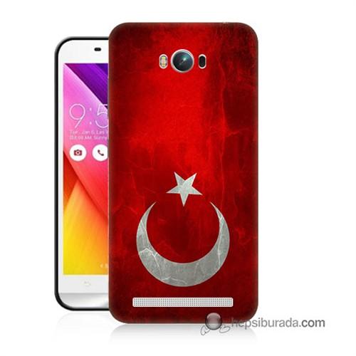 Teknomeg Asus Zenfone Max Kılıf Kapak Türkiye Bayrağı Baskılı Silikon
