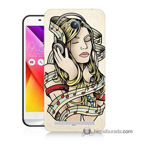 Teknomeg Asus Zenfone Max Kapak Kılıf Müzik Aşkı Baskılı Silikon