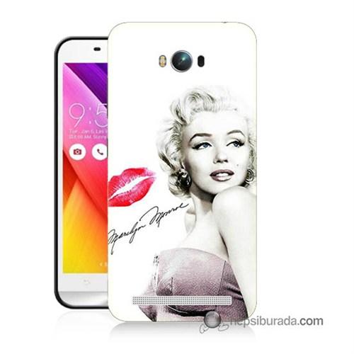 Teknomeg Asus Zenfone Max Kapak Kılıf Marilyn Monroe Baskılı Silikon