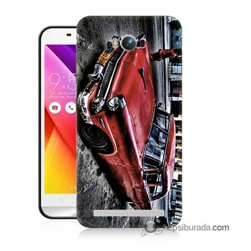 Teknomeg Asus Zenfone Max Kılıf Kapak Klasik Araba Baskılı Silikon