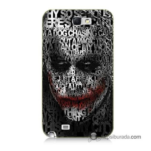 Teknomeg Samsung Galaxy Note 2 Kapak Kılıf Joker Baskılı Silikon