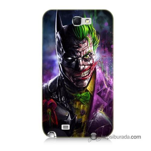 Teknomeg Samsung Galaxy Note 2 Kılıf Kapak Batman Vs Joker Baskılı Silikon