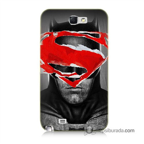 Teknomeg Samsung Galaxy Note 2 Kapak Kılıf Batman Vs Superman Baskılı Silikon