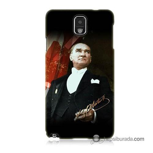 Teknomeg Samsung Galaxy Note 3 Kapak Kılıf M.K.Atatürk Baskılı Silikon