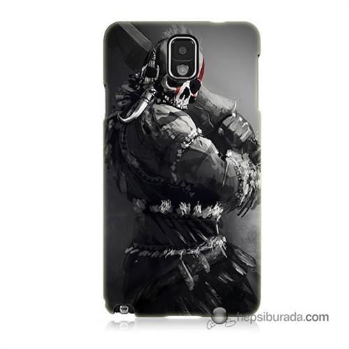 Teknomeg Samsung Galaxy Note 3 Kılıf Kapak Tribal Warrior Baskılı Silikon