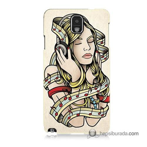 Teknomeg Samsung Galaxy Note 3 Kapak Kılıf Müzik Aşkı Baskılı Silikon