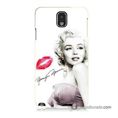 Teknomeg Samsung Galaxy Note 3 Kapak Kılıf Marilyn Monroe Baskılı Silikon