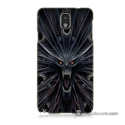 Teknomeg Samsung Galaxy Note 3 Kılıf Kapak Korku Canavarı Baskılı Silikon