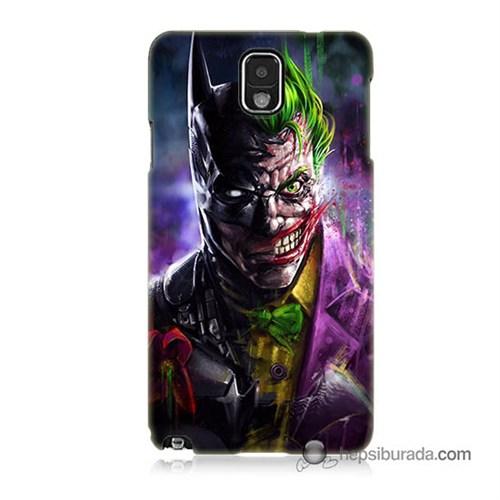 Teknomeg Samsung Galaxy Note 3 Kılıf Kapak Batman Vs Joker Baskılı Silikon