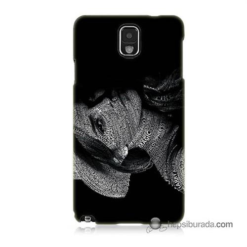 Teknomeg Samsung Galaxy Note 3 Kılıf Kapak Yazılı Kadın Baskılı Silikon