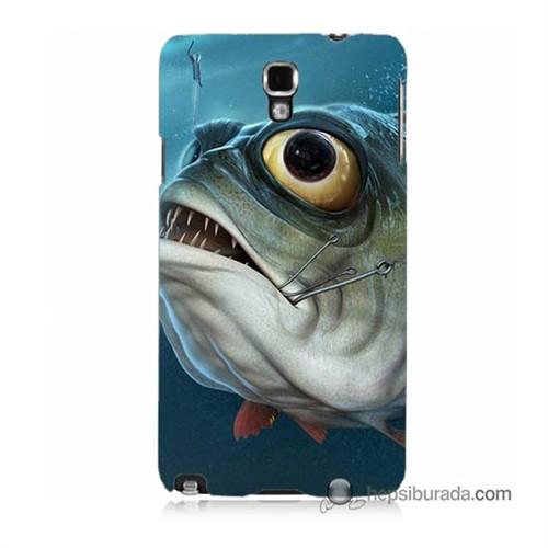 Teknomeg Samsung Galaxy Note 3 Neo Kapak Kılıf Balık Baskılı Silikon