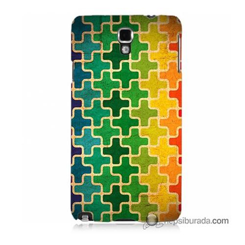 Teknomeg Samsung Galaxy Note 3 Neo Kapak Kılıf Renkli Artı Baskılı Silikon