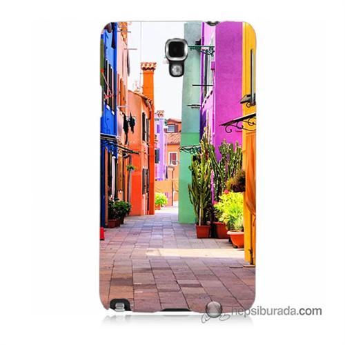 Teknomeg Samsung Galaxy Note 3 Neo Kılıf Kapak Sokak Baskılı Silikon