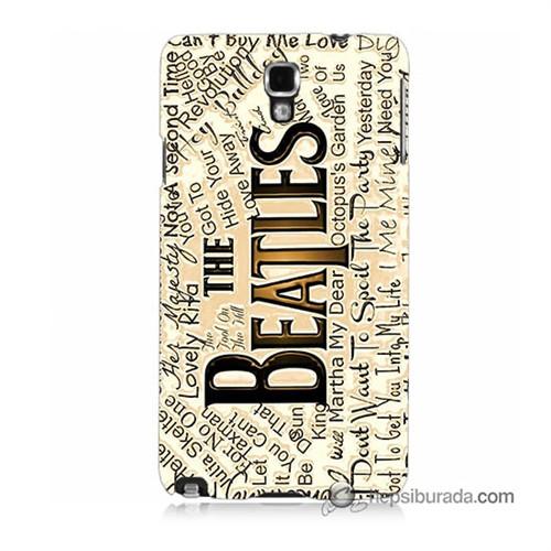 Teknomeg Samsung Galaxy Note 3 Neo Kılıf Kapak The Beatles Baskılı Silikon